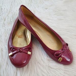 **Coach Dotty Sz 7 Berry Patent Leather Flats